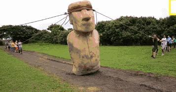 Jak ustawiono pomniki z Wysp Wielkanocnych