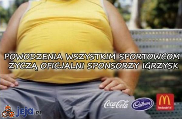 Dobrze dobrani sponsorzy igrzysk