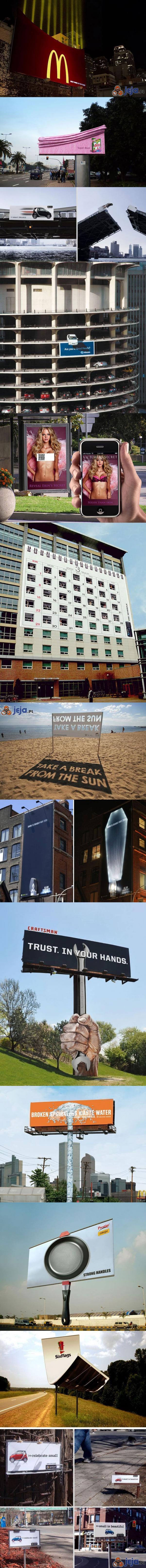 Pomysłowe billboardy