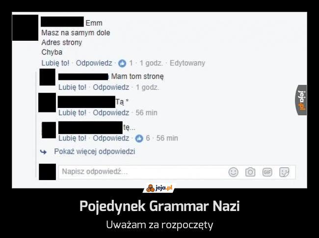 Pojedynek Grammar Nazi