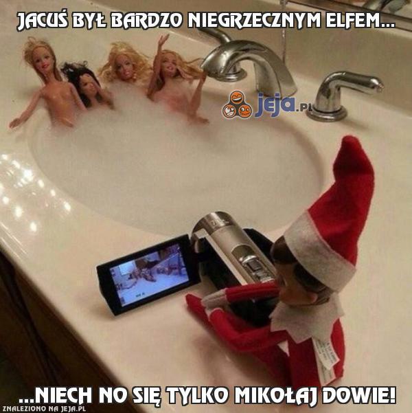 Jacuś był bardzo niegrzecznym elfem...