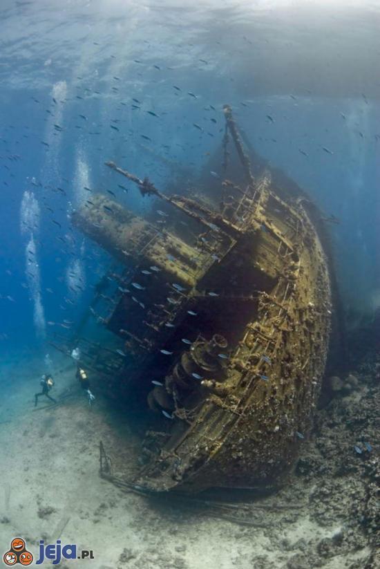 Statek, który zatonął na Morzu Czerwonym