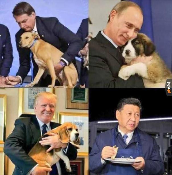 Światowi przywódcy z psami