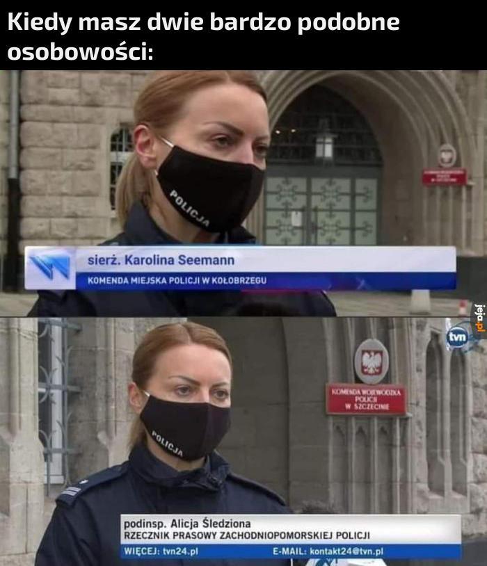 Obie to policjantki, to się rzadko zdarza