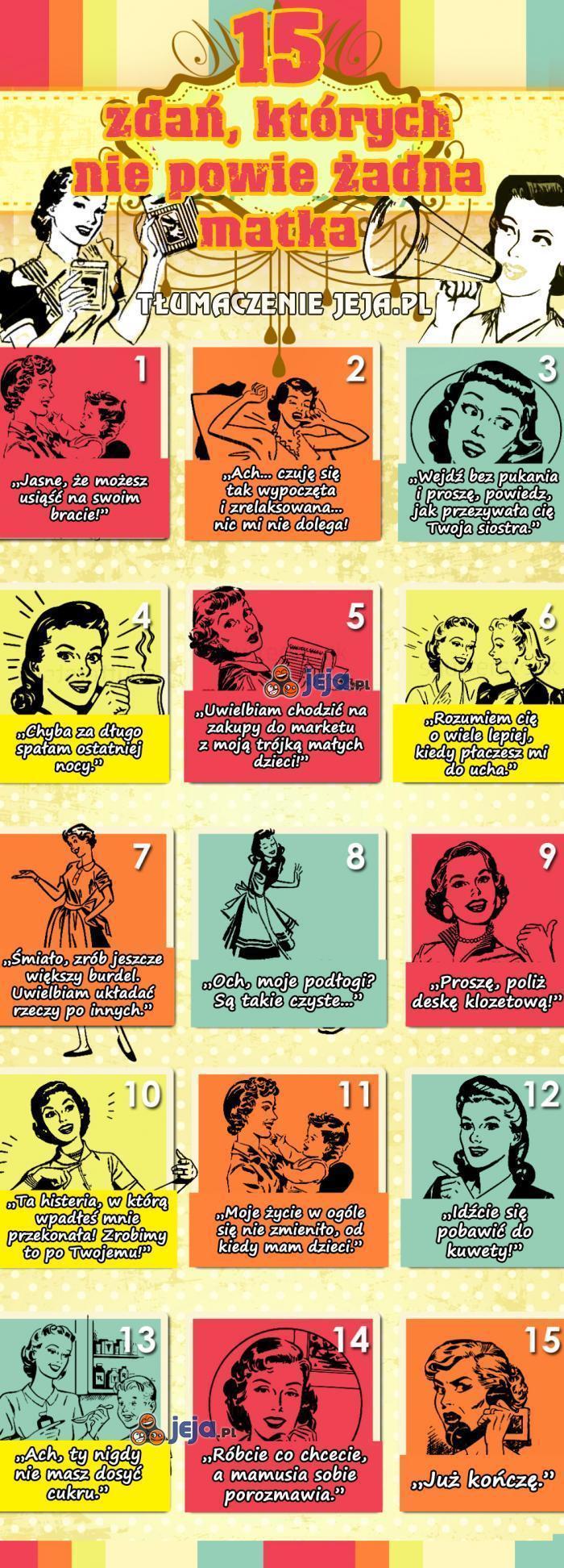 15 zdań, których nie powie żadna matka
