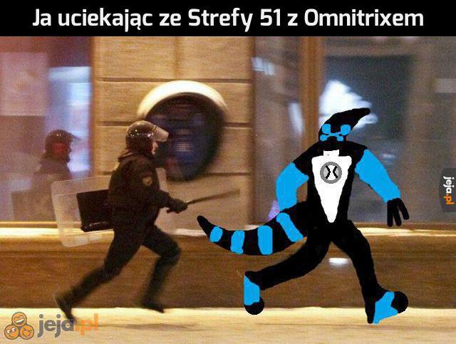 Ten strażnik jest strasznie szybki!