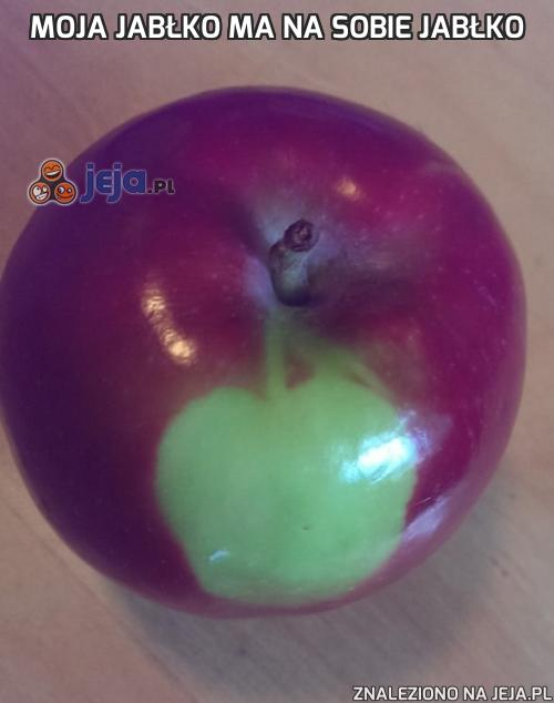 Moja jabłko ma na sobie jabłko