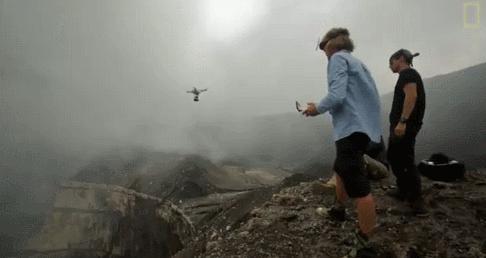 Dronem do wulkanu