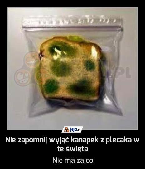 Nie zapomnij wyjąć kanapek z plecaka w te święta