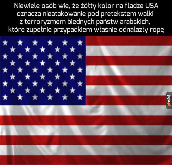 Ciekawostka o fladze USA
