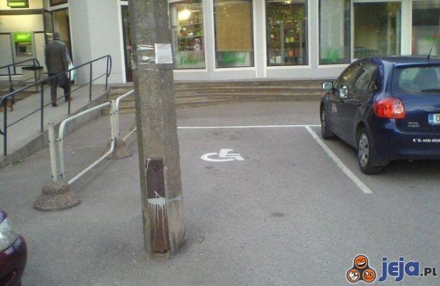 Miejsce parkingowe dla niepełnosprawnych