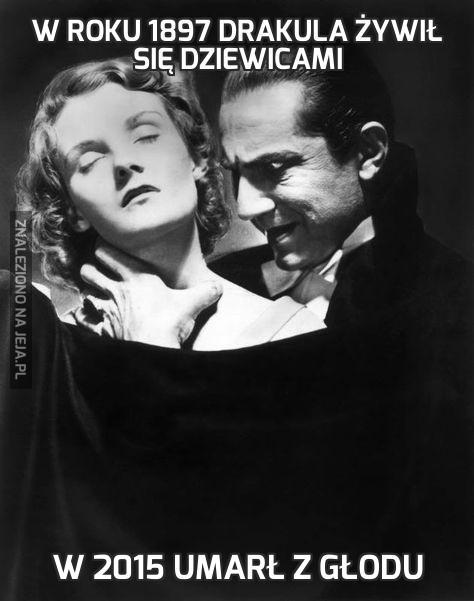W roku 1897 Drakula żywił się dziewicami