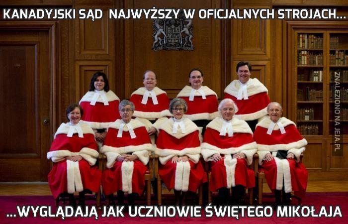 Kanadyjski Sąd  Najwyższy w oficjalnych strojach...
