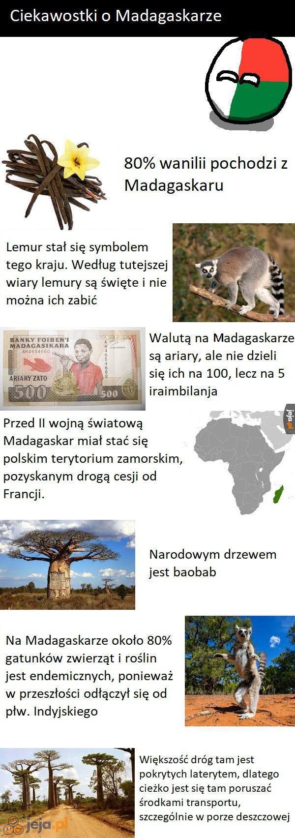 Ciekawostki o Madagaskarze