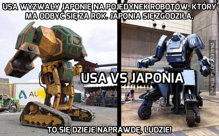 Uwaga, pojedynek robotów już za rok!