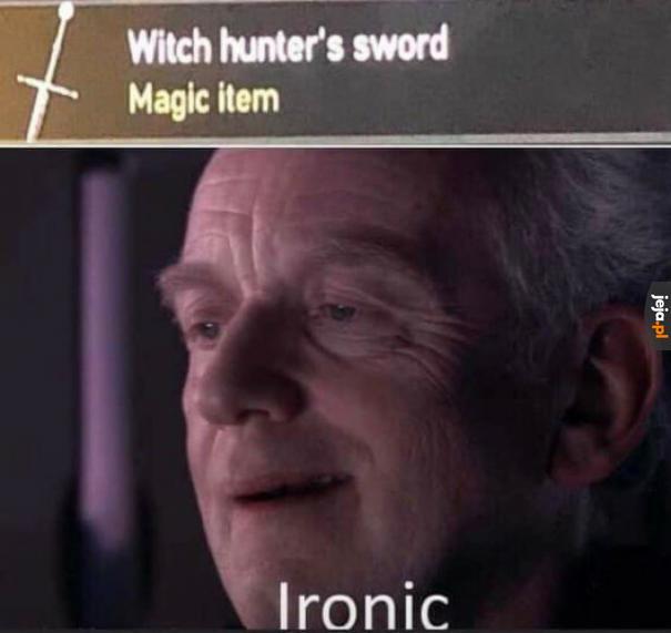 Magiczny miecz na wiedźmy