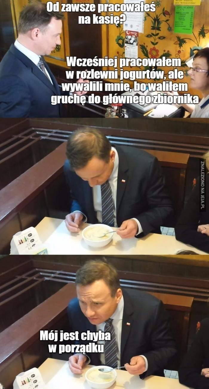 Prezydencki jogurt