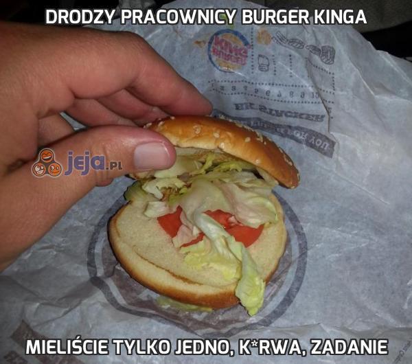 Drodzy pracownicy Burger Kinga