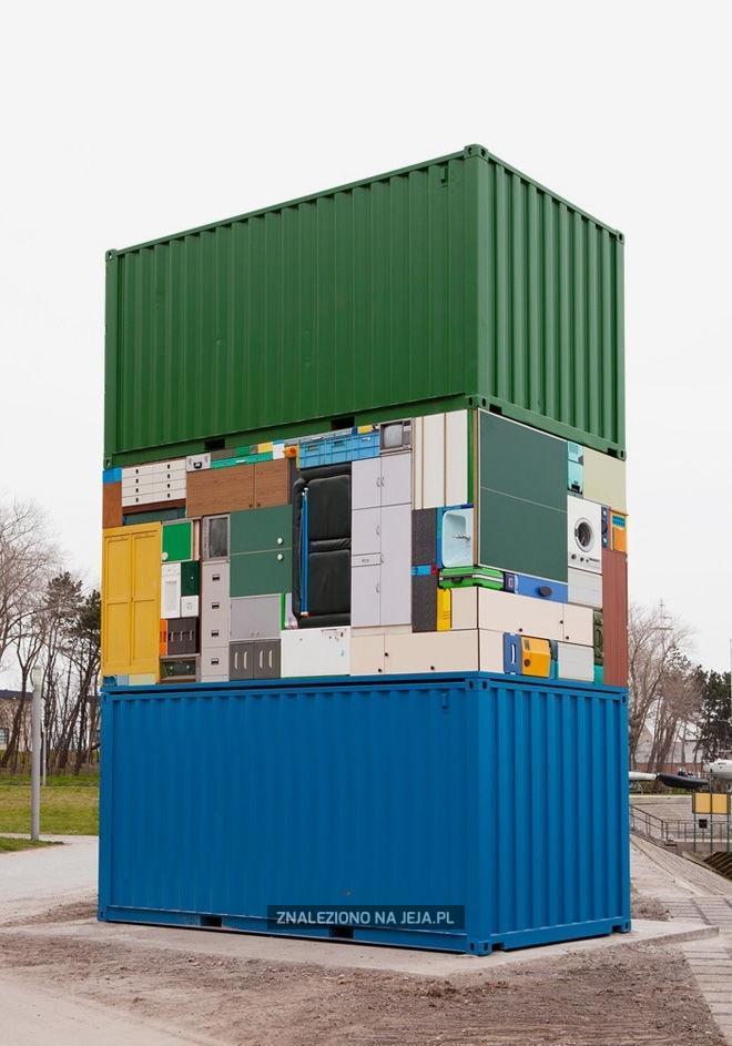 Mieszkanie skompresowane w kontenerze