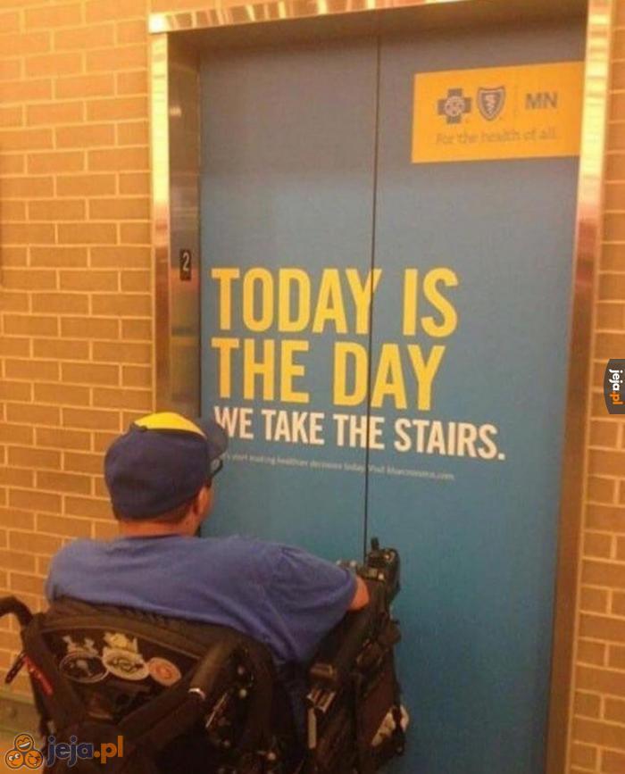 Nie ma nóżek, nie ma windy