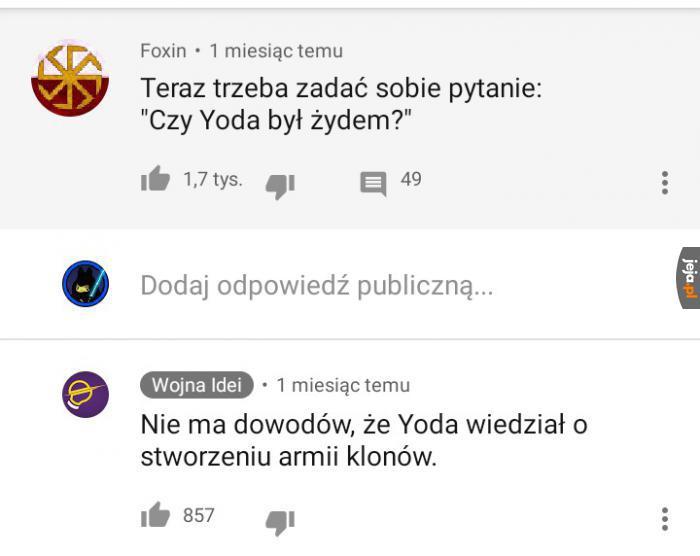 A Ty co sądzisz o Yodzie?