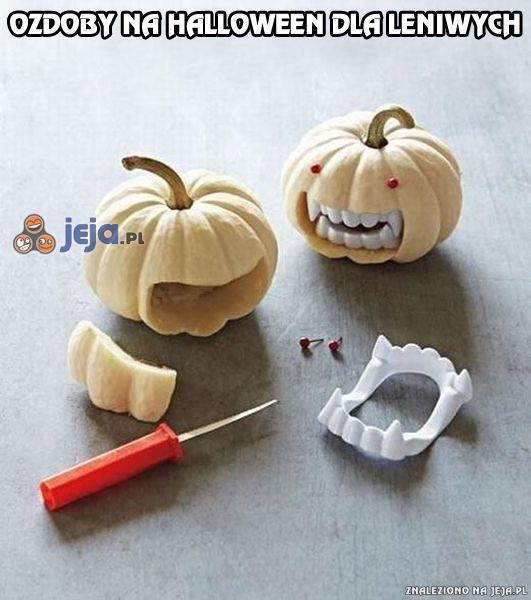 Ozdoby na Halloween dla leniwych