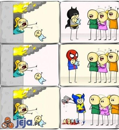 Superbohaterowie ratują dziecko