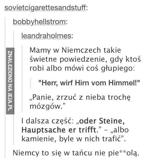 Niemiecki, piękny język...