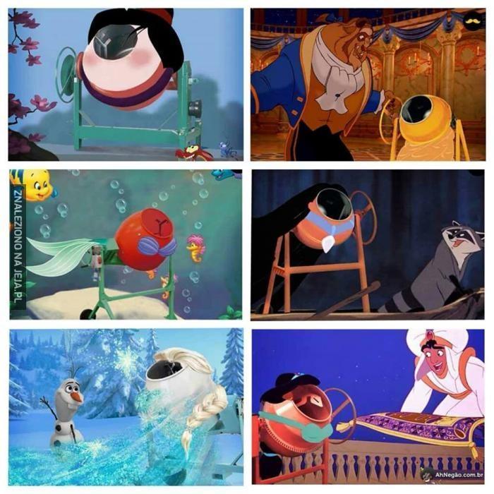 Gdyby księżniczki Disneya były betoniarkami