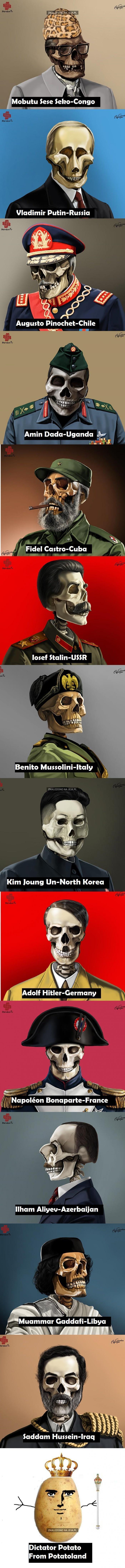 Satyryczne portrety dyktatorów