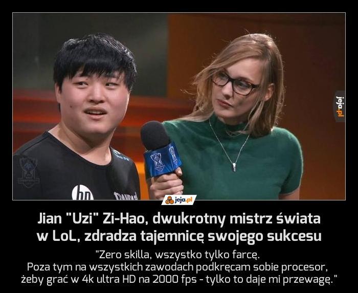 """Jian """"Uzi"""" Zi-Hao, dwukrotny mistrz świata w LoL, zdradza tajemnicę swojego sukcesu"""
