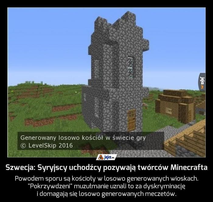 Szwecja: Syryjscy uchodźcy pozywają twórców Minecrafta