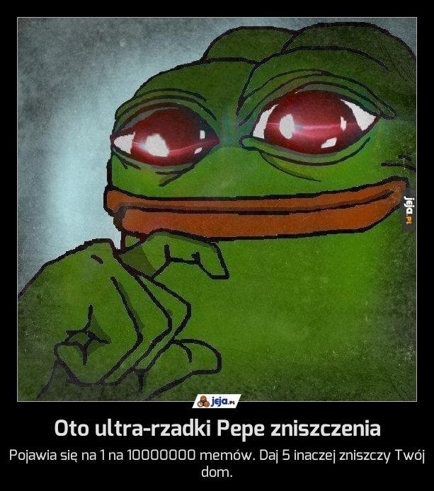 Oto ultra-rzadki Pepe zniszczenia