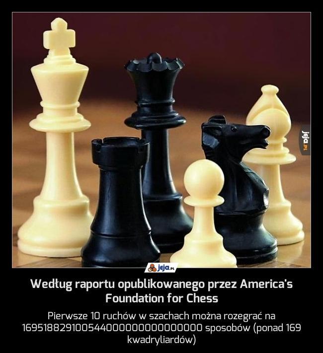 Według raportu opublikowanego przez America's Foundation for Chess