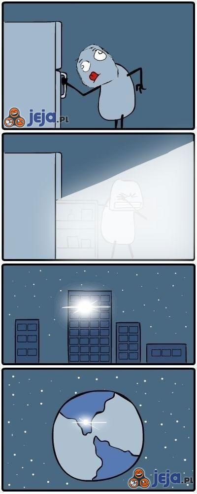 Lodówka nocą