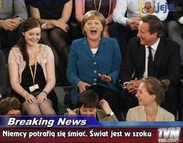 Sensacja! Niemcy potrafią się śmiać!
