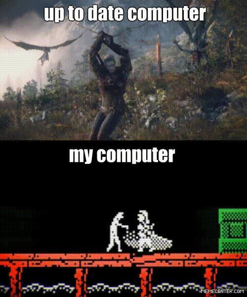 Wiedźmin 3 na moim komputerze