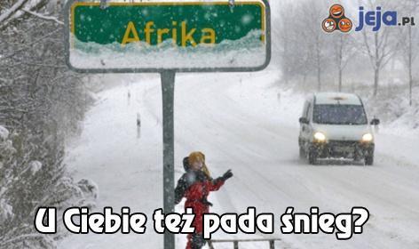 U Ciebie też pada śnieg?