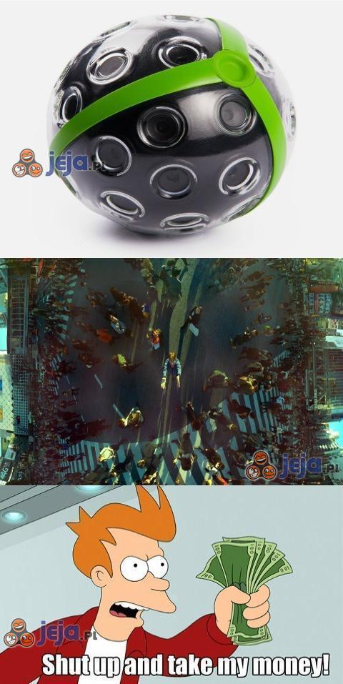 Panoramiczna kamera w kształcie kuli