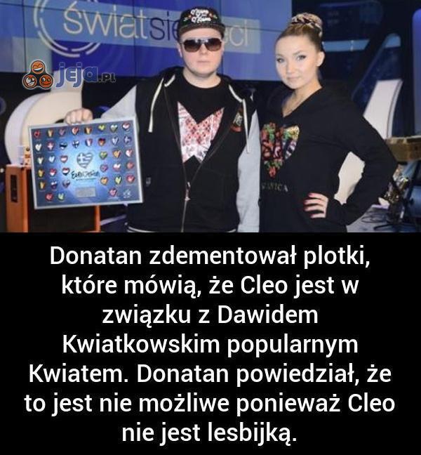 Donatan zdementował plotki o Cleo