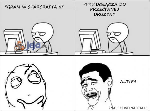Za każdym razem kiedy gram w Starcrafta