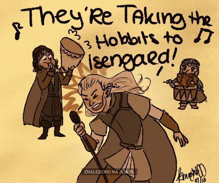 Zabierają Hobbity do Isengardu!
