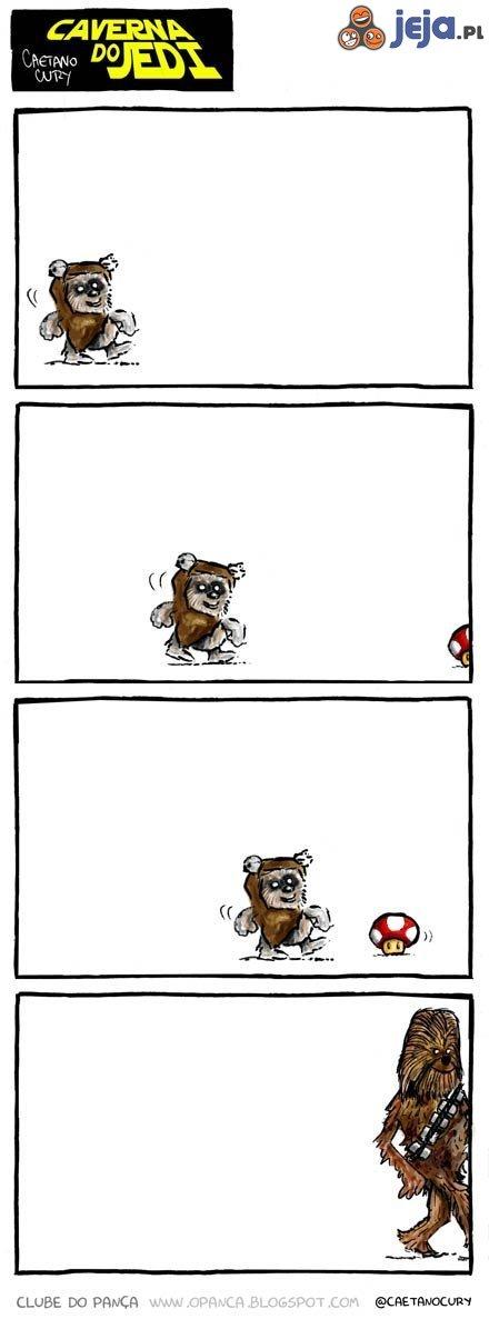 Yeti i grzybek z Mario