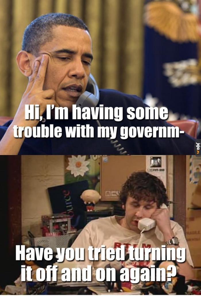 Problemy z rządem