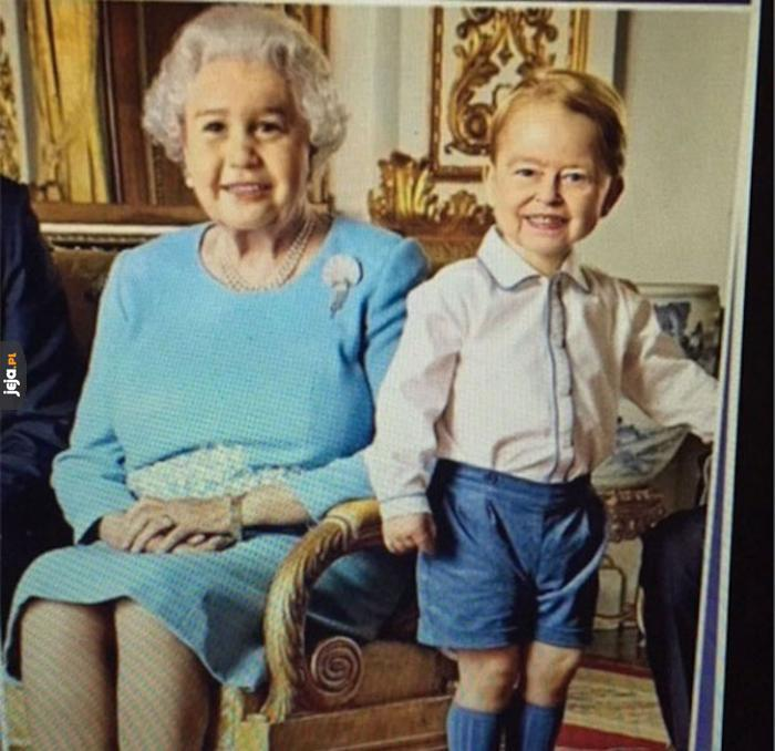 Zamiana twarzy królowej Elżbiety