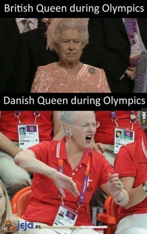 Różne królowe podczas Olimpiady