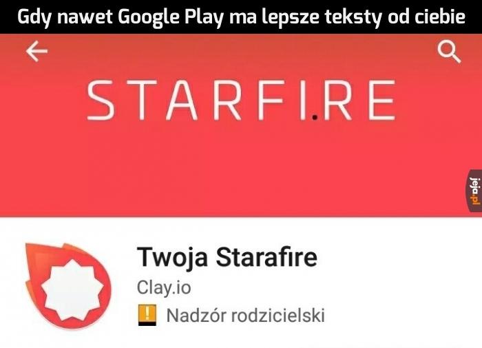 Gnojenie według Google Play