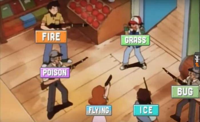 Trawiaste Pokemony mają najgorzej