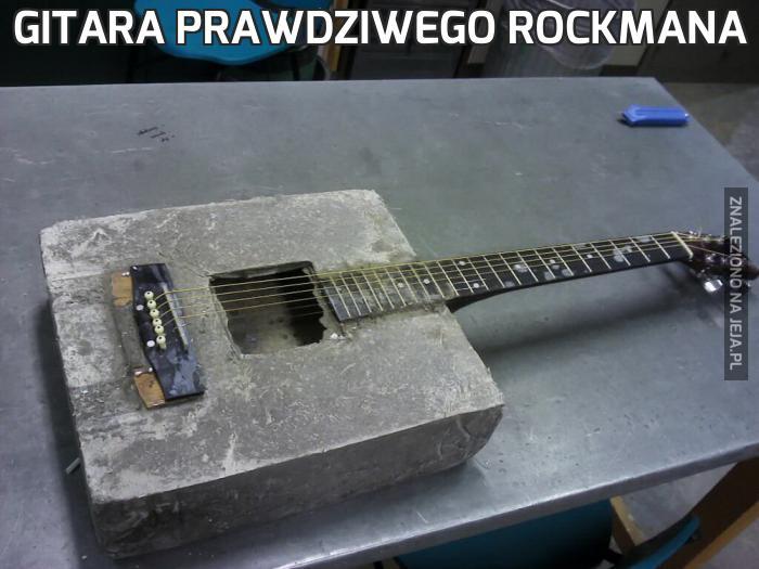 Gitara prawdziwego rockmana