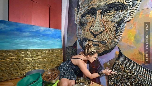 Putin z łusek nabojów